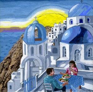 Mediterranean meal by Anita Flynn
