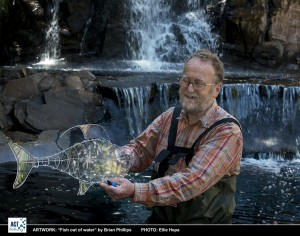 Brian Phillips with Fish out of water